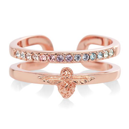 Olivia Burton Rainbow Bee Rose Gold Plated Crystal Ring - Product number 1130463