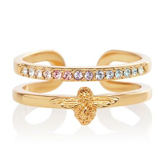 031576ca01780 Olivia Burton Rainbow Bee Yellow Gold Plated Crystal Ring - Product number  1130625