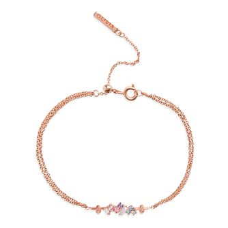 Olivia Burton Rainbow Bee Rose Gold Plated Crystal Bracelet - Product number 1130641