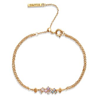 Olivia Burton Rainbow Bee Gold Plated Crystal Bracelet - Product number 1130684