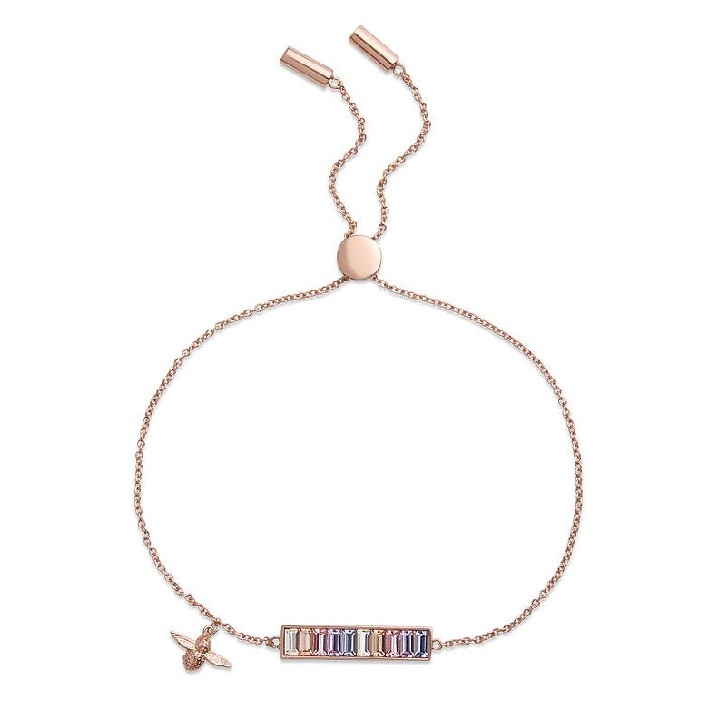 Olivia Burton Rainbow Bee Baguette Bar Crystal Bracelet - Product number 1130692