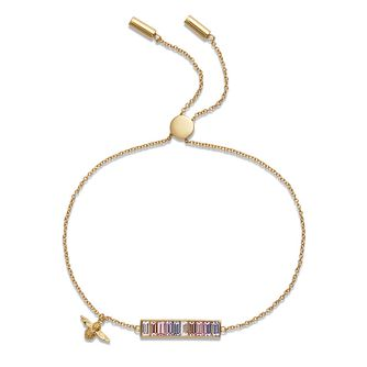 Olivia Burton Rainbow Bee Baguette Bar Crystal Bracelet - Product number 1130722