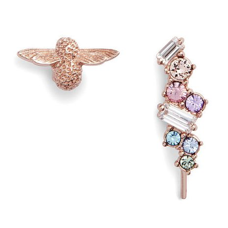 Olivia Burton Rainbow Bee Crystal Crawler & Stud Earrings - Product number 1130935