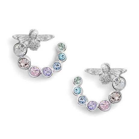 Olivia Burton Rainbow Bee Crystal Swirl Hoop Earrings - Product number 1130994