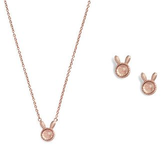 Olivia Burton Bunny Rose Necklace & Stud Earrings Gift Set - Product number 1131559