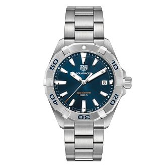 TAG Heuer Stainless Steel Aquaracer Blue Bracelet Watch - Product number 1132776