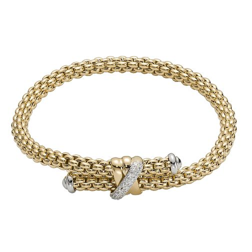 Fope Flex' It Solo 18ct yellow gold diamond bracelet - Product number 1134485