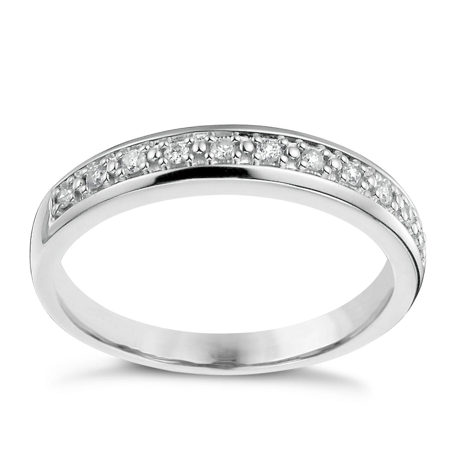 9ct White Gold 1/10ct Eternity Ring - Product number 1135031
