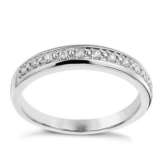 9ct White Gold 0.10ct Eternity Ring - Product number 1135031