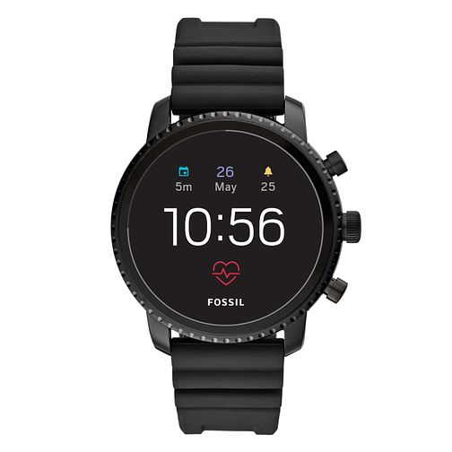 Fossil Q Explorist Gen 4 Digital Black Silicone Strap Watch - Product number 1138510