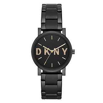 Dkny Soho Ladies' Logo Black Ion Plated Bracelet Watch - Product number 1138723