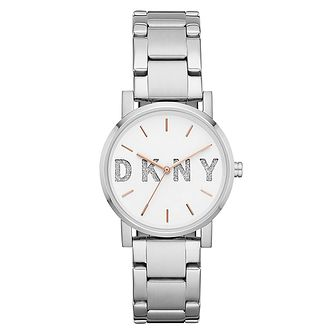 DKNY Soho Silver Tone Stainless Steel Ladies' Bracelet Watch - Product number 1138731
