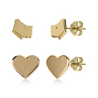 Radley Gold Tone Dog & Heart Stud Earrings Gift Set - Product number 1140884