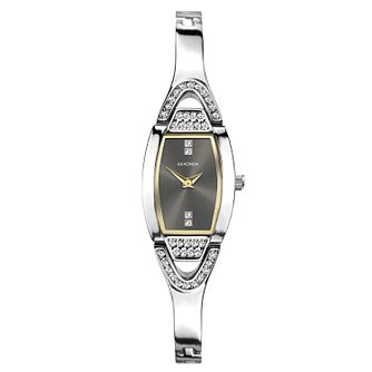Sekonda Ladies' Tonneau Silver Tone Bracelet Watch - Product number 1141236