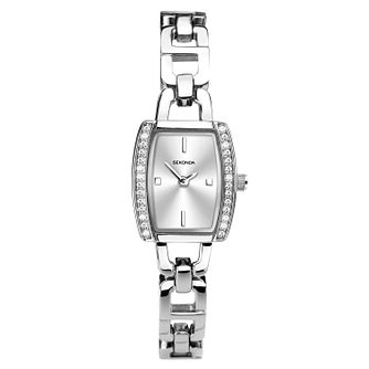 Sekonda Ladies' Tonneau Silver Tone Bracelet Watch - Product number 1141260
