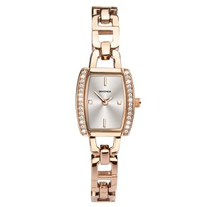 Sekonda Ladies' Tonneau Rose Gold Tone Bracelet Watch - Product number 1141287