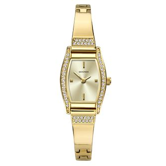 Sekonda Ladies' Crystal Gold Tone Semi-Bangle Watch - Product number 1141317