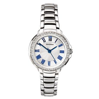 Sekonda Ladies' Crystal Silver Tone Bracelet Watch - Product number 1141325