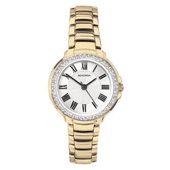Sekonda Ladies' Crystal Gold Tone Bracelet Watch - Product number 1141333