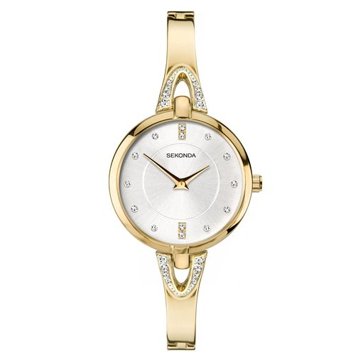 Sekonda Ladies' Crystal Gold Tone Bangle Watch - Product number 1141341