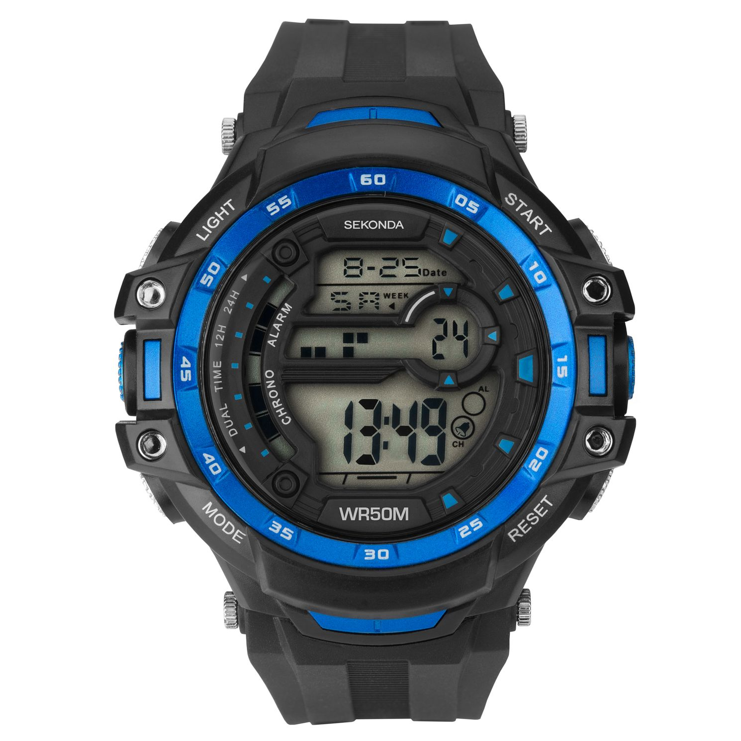 Sekonda Men's Digital Black Resin Strap Watch - Product number 1141406