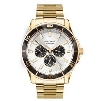 Sekonda Men's Multifunction Gold Tone Bracelet Watch - Product number 1141457