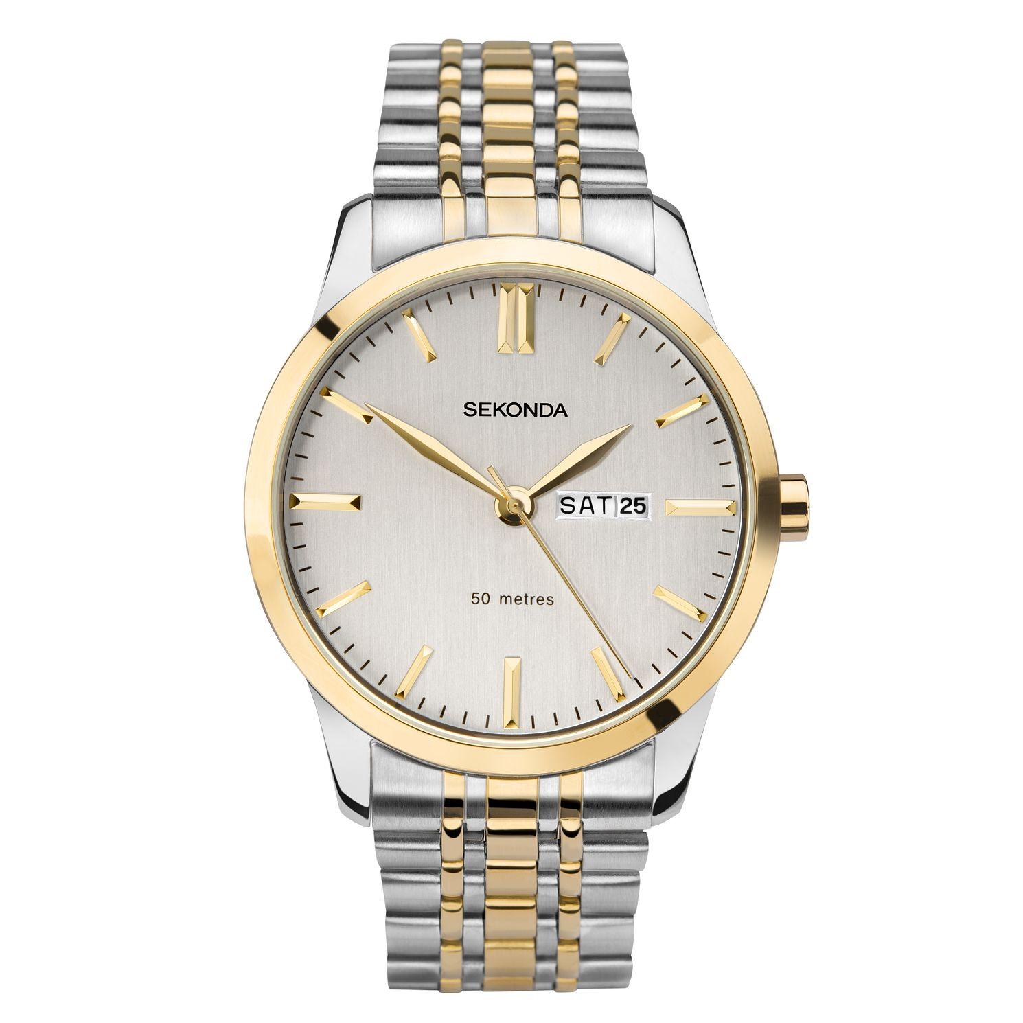 Sekonda Men's Two-Tone Stainless Steel Bracelet Watch - Product number 1141619