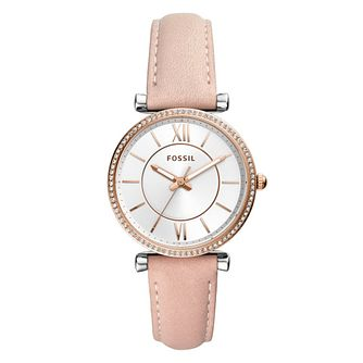 Fossil Carlie Ladies' Nude Leather Strap Watch - Product number 1142208