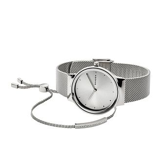 Skagen Freja Ladies' Mesh Bracelet Watch & Bracelet Set - Product number 1142348