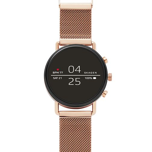 Skagen Connected Falster 2 Rose Gold Watch - Product number 1142445