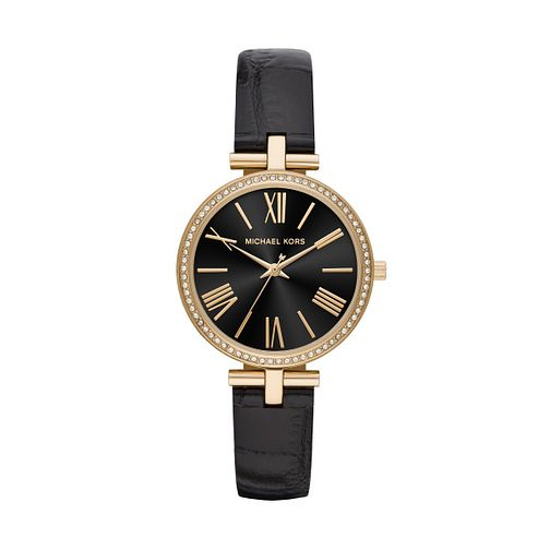 Michael Kors Maci Ladies' Black Leather Strap Watch - Product number 1142488