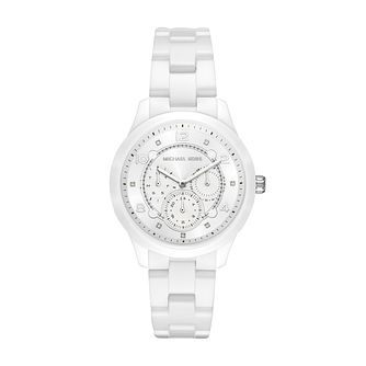 Michael Kors Runway White Ceramic Bracelet Watch - Product number 1142631