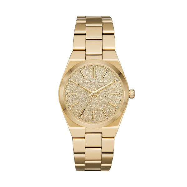 Michael Kors Channing Ladies' Gold Plated Bracelet Watch - Product number 1142658