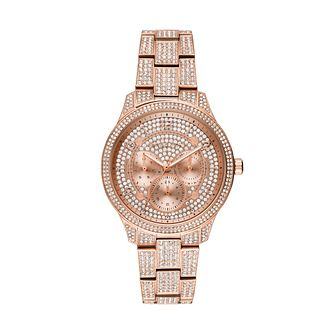 Michael Kors Runway Glitz Rose Gold Plated Bracelet Watch - Product number 1142704