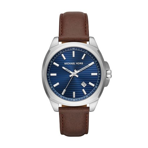 Michael Kors Men's Bryson Brown Leather Strap Watch - Product number 1142720