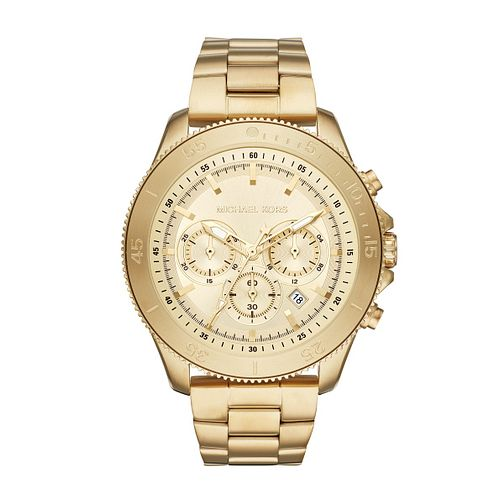 49e9a7e87e9f Michael Kors Theroux Men s Yellow Gold Plated Bracelet Watch - Product  number 1142798