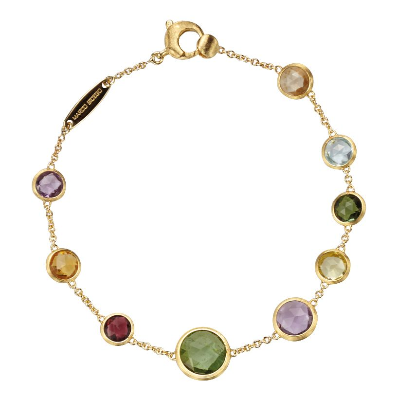 Marco Bicego Jaipur 18ct Yellow Gold Mix Stone Bracelet - Product number 1142836