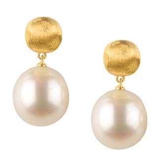 Marco Bicego Africa 18ct Yellow Gold Pearl Earrings - Product number 1142844