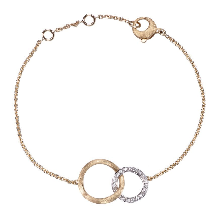 Marco Bicego Jaipur 18ct Gold 0.14ct Diamond Link Bracelet - Product number 1142852
