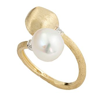 Marco Bicego Africa 18ct Gold Pearl & Diamond Ring - Product number 1142933