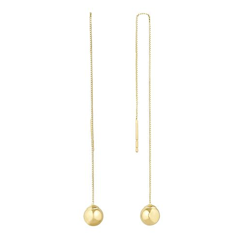 9ct Yellow Gold Ball Drop Earrings - Product number 1144898