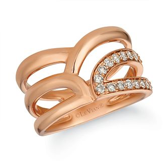 Le Vian Iconic 14ct Strawberry Gold Nude Diamond Ring - Product number 1145479