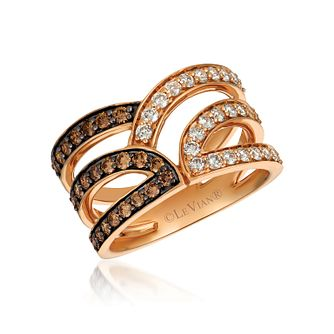 Le Vian Iconic 14ct Strawberry Gold Chocolate Diamond Ring - Product number 1145606