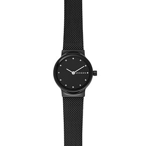 Skagen Freja Ladies' Black Steel Mesh Bracelet Watch - Product number 1146297