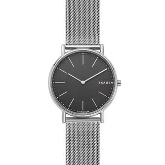 Skagen Signatur Men's Stainless Steel Mesh Bracelet Watch - Product number 1146319