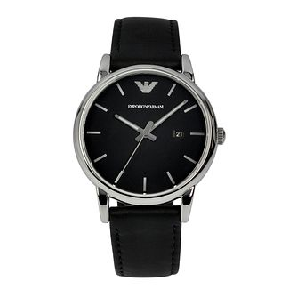7a598e7170dee Emporio Armani Men s Stainless Steel   Black Strap Watch - Product number  1149474