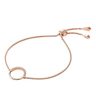 Michael Kors Rose Gold Plated Cubic Zirconia Circle Bracelet - Product number 1150235