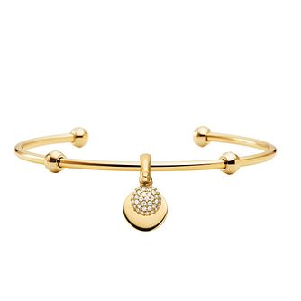 Michael Kors Yellow Gold Plated Cubic Zirconia Round Bangle - Product number 1150286