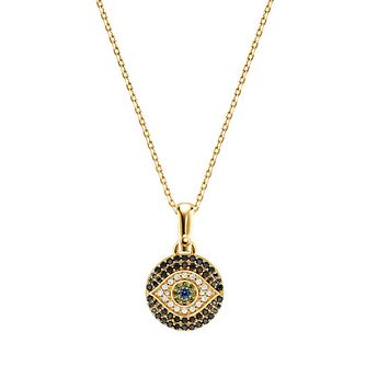 Michael Kors Gold Plated Evil Eye Cubic Zirconia Pendant - Product number 1150294