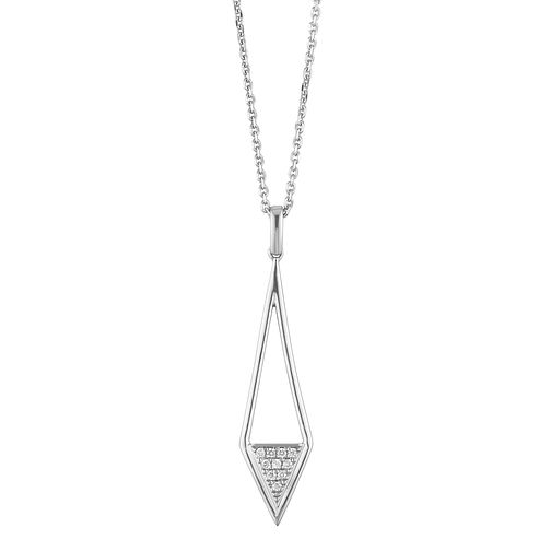 Sterling Silver Diamond Kite Drop Pendant - Product number 1150634